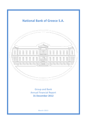 National Bank of Greece annual report 2012