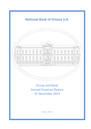 National Bank of Greece annual report 2013
