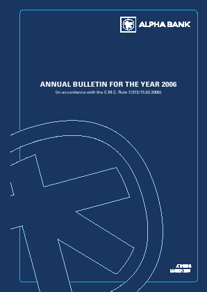 Alpha Bank annual report 2006