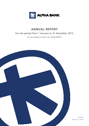 Alpha Bank annual report 2012