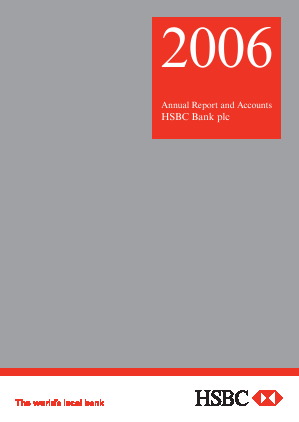 HSBC Bank Plc annual report 2006