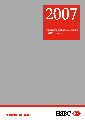 HSBC Bank Plc annual report 2007