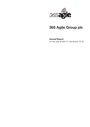 365 Agile Group Plc annual report 2016