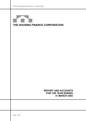 Housing Finance Corp annual report 2002
