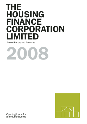Housing Finance Corp annual report 2008