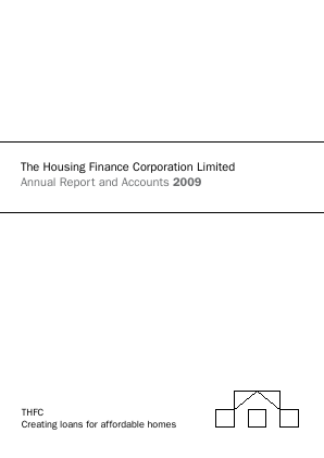 Housing Finance Corp annual report 2009