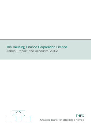 Housing Finance Corp annual report 2012