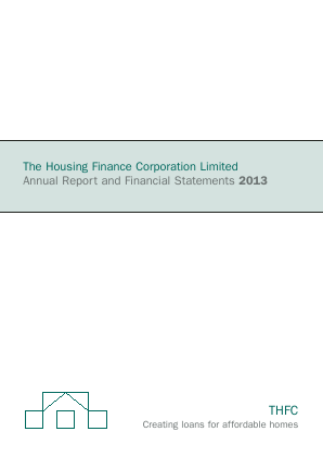 Housing Finance Corp annual report 2013