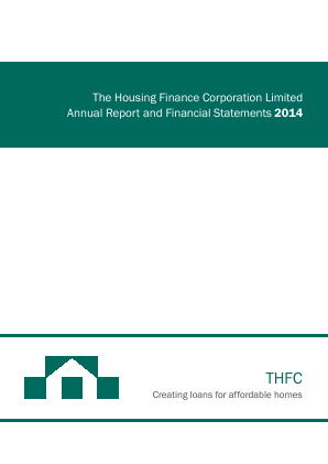 Housing Finance Corp annual report 2014