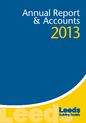 Leeds Building Society annual report 2013