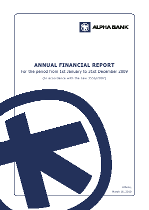Alpha Bank AE annual report 2009