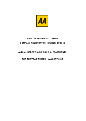 AA Plc annual report 2013