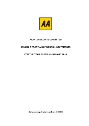 AA Plc annual report 2014