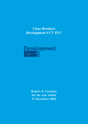 Albion Development VCT Plc annual report 2002