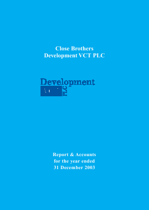 Albion Development VCT Plc annual report 2003