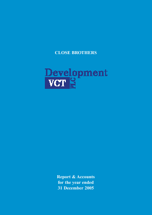 Albion Development VCT Plc annual report 2005