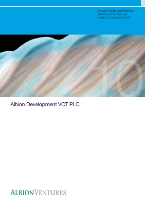 Albion Development VCT Plc annual report 2010