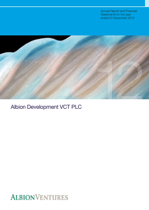 Albion Development VCT Plc annual report 2012