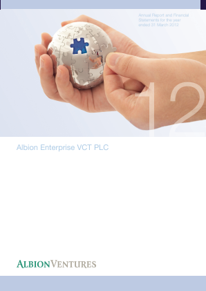 Albion Enterprise VCT Plc annual report 2012