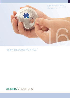Albion Enterprise VCT Plc annual report 2016