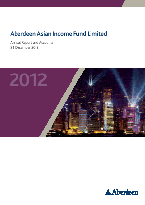 Aberdeen Asian Income Fund annual report 2012