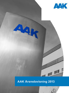AAK annual report 2013