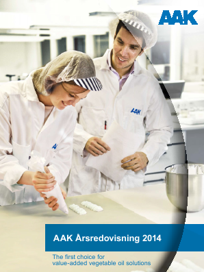 AAK annual report 2014