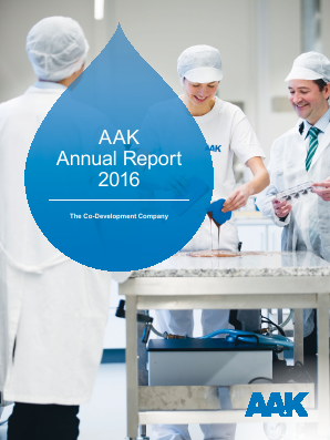 AAK annual report 2016