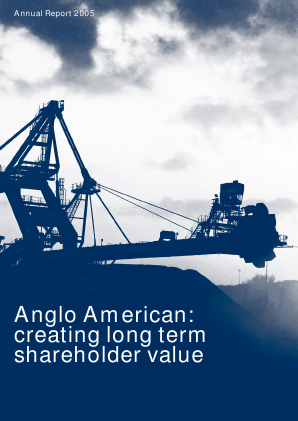 Anglo American annual report 2005