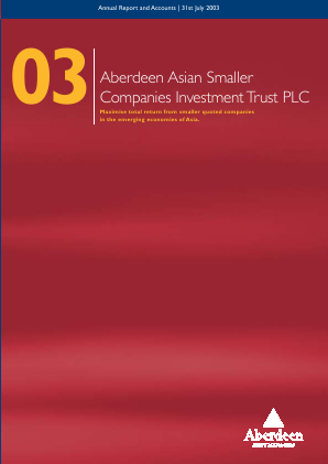 Aberdeen Asian Smaller Companies Investment Trust annual report 2003