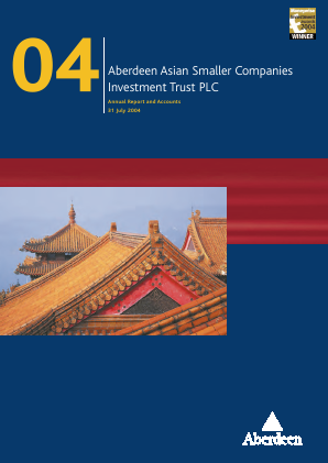 Aberdeen Asian Smaller Companies Investment Trust annual report 2004