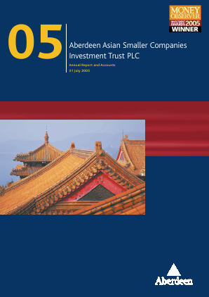 Aberdeen Asian Smaller Companies Investment Trust annual report 2005