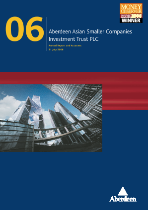 Aberdeen Asian Smaller Companies Investment Trust annual report 2006