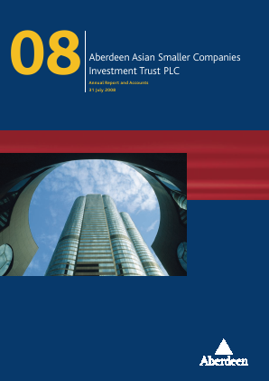 Aberdeen Asian Smaller Companies Investment Trust annual report 2008