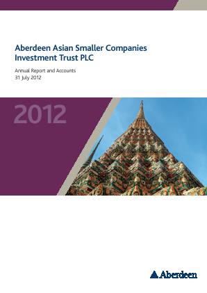 Aberdeen Asian Smaller Companies Investment Trust annual report 2012
