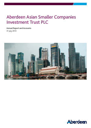 Aberdeen Asian Smaller Companies Investment Trust annual report 2013
