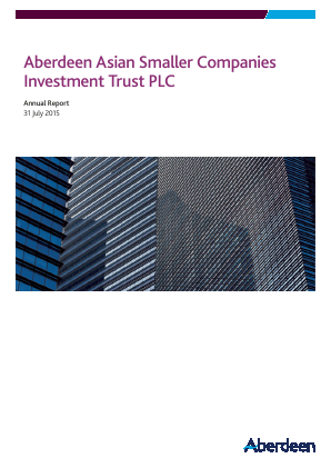 Aberdeen Asian Smaller Companies Investment Trust annual report 2015