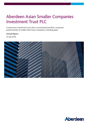 Aberdeen Asian Smaller Companies Investment Trust annual report 2016