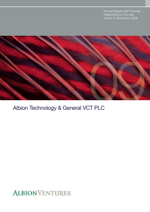 Albion Technology & General VCT Plc annual report 2009