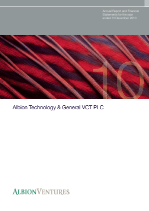 Albion Technology & General VCT Plc annual report 2010