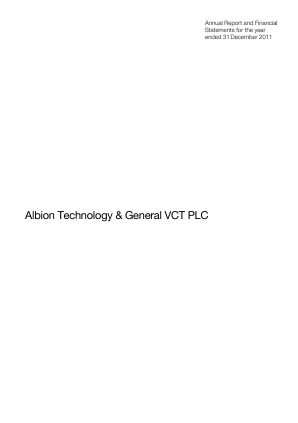 Albion Technology & General VCT Plc annual report 2011