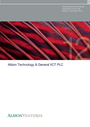 Albion Technology & General VCT Plc annual report 2012