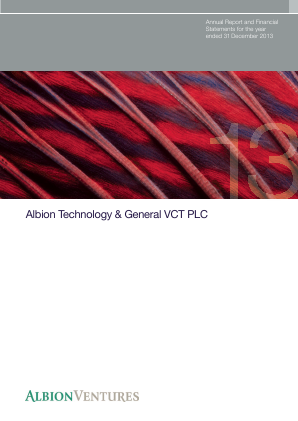 Albion Technology & General VCT Plc annual report 2013