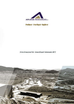 Ariana Resources annual report 2017
