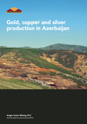 Anglo Asian Mining Plc annual report 2016
