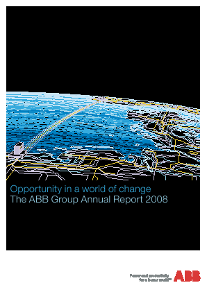 ABB Ltd annual report 2008