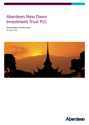 Aberdeen New Dawn Investment Trust annual report 2016