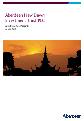 Aberdeen New Dawn Investment Trust annual report 2018