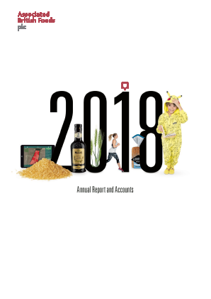 Associated British Foods annual report 2018