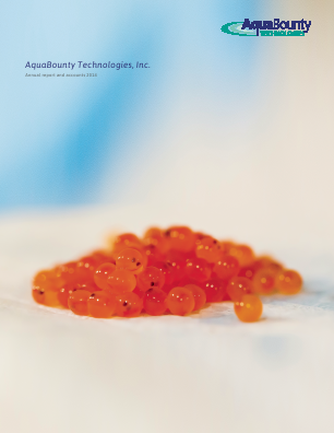 Aqua Bounty Technologies Inc annual report 2014